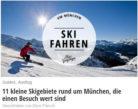 Skigebiete rund um münchen