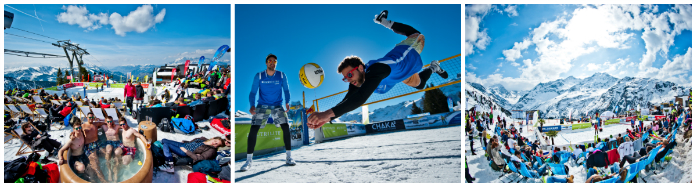 collage snowvolleyball