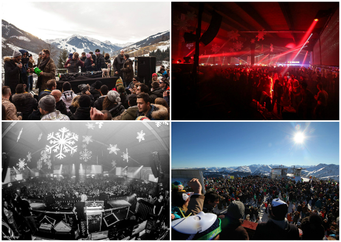 collage Rave on snow