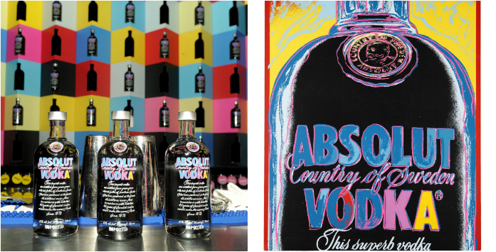 collage absolut warholbar warholdesignedvodka
